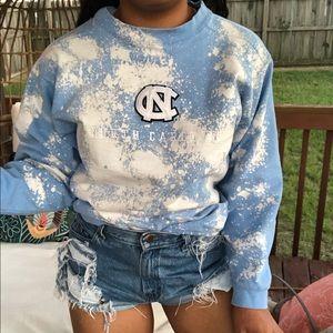 Tops - NC Tarheels Custom Bleach Splatter Sweatshirt SZ S